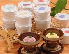 北国からカウベルアイスクリーム(バニラビーンズ、赤肉メロン、クリームチーズ、ストロベリー、ハスカップ、チョコ各80ml×2個)の画像