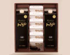 コーヒーゼリー&リキッドコーヒーギフト〔コーヒーゼリー67g×6個、リキッドコーヒー無糖1000ml×2本〕の画像