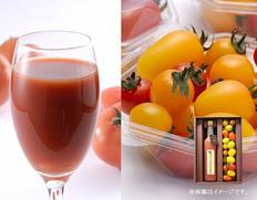【宮城県】デリシャスファーム 極旬丸しぼり&彩りミニトマトセットの画像