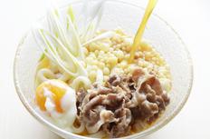 讃岐のガッツリ 大盛り牛肉ぶっかけうどん4食(池上のめんx綿谷の煮込み肉)の画像