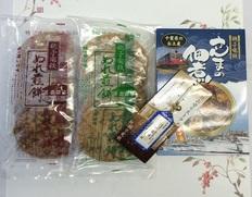 銚子電鉄のぬれ煎餅・佃煮・開運切符セットの画像