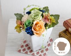 日付指定可!お誕生日など、お祝いに最適!プリザーブドフラワー クラシックパールの画像