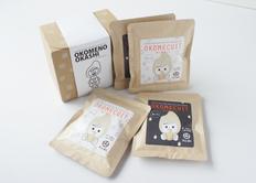 おこめのおやつバック 米粉で作った「おこめケットプレーンと黒ごまのセット」7007 の画像