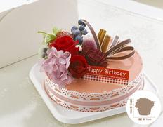 日付指定可!お誕生日のサプライズプレゼント!プリザーブドフラワー ストロベリーケーキの画像
