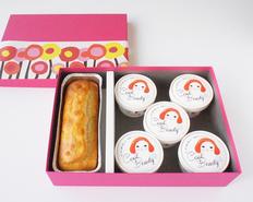 米糀の甘酒を使ったジェラートと甘酒パウンドケーキセットの画像