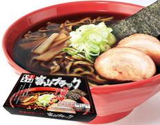 乾麺・富山ブラックラーメン「いろは」醤油味4食の画像